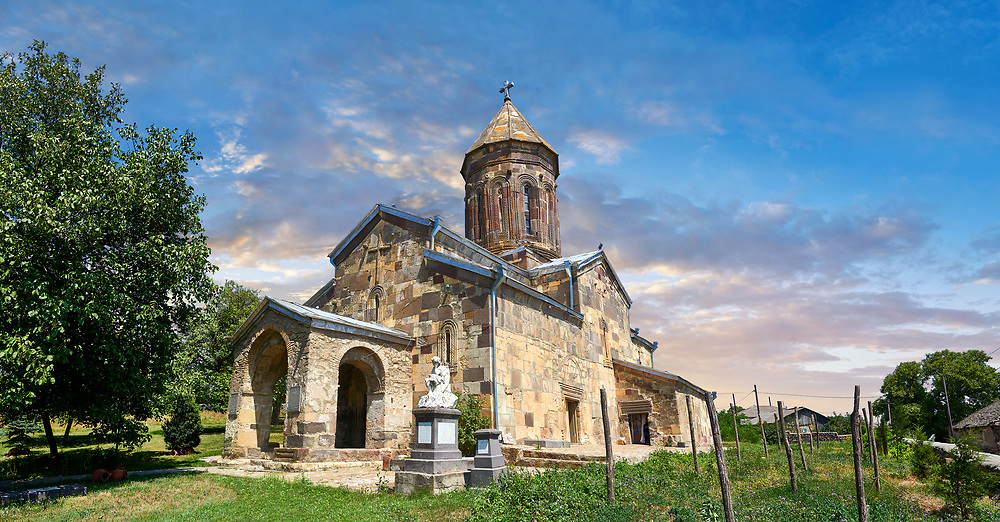 Picture & image of the Cathedral Of Transfiguration, Medieval Georgian Orthodox, 7-9th century,  Ruisi, Georgia.<br /> <br /> A typical Georgian cruciform & cupola church Ruisi Cathedral Of Transfiguration was built by King Vakhtang Gorgasali in a typical 7th century style.
