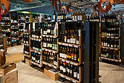 Large Italian wines selection at Eataly food hall.
