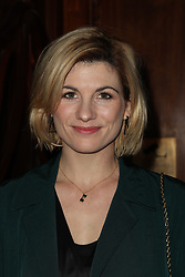 Jodie Whittaker arriving at the opening night of the Broadway musical, Hamilton at the Victoria Palace Theatre, central London.