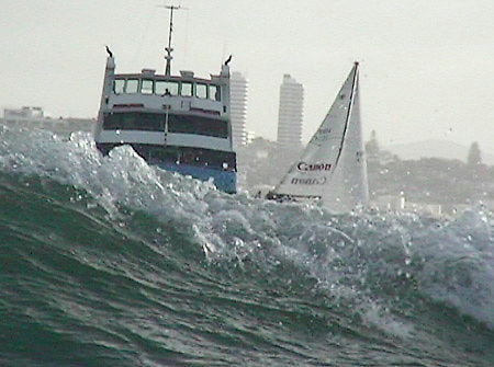 An unjust battle unfolds in the bubbly waters of 2001, right in front of the Auckland Skyline.