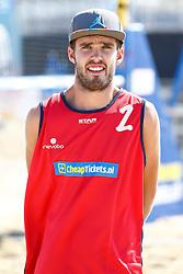 20150828 NED: NK Beachvolleybal 2015, Scheveningen<br />Kwalificaties NK Beachvolleybal 2015, Daniel van Helden, debutant