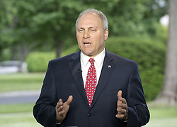 May 4, 2017 - Washington, District of Columbia, United States of America - United States House Majority Whip Steve Scalise (Republican of Louisiana) is interviewed at the White House in Washington, DC following the passage of the American Health Care Act (AHCA) on May 4, 2017..Credit: Ron Sachs / CNP (Credit Image: © Ron Sachs/CNP via ZUMA Wire)