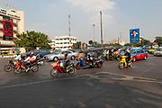 Busy highway in Bangkok Thailand