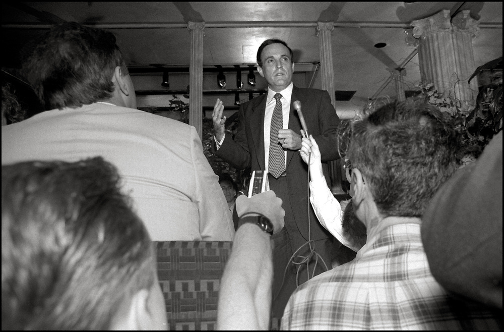 Then mayoral candidate, Rudy Giuliani, speaking to political leaders from the GLBTQ at a breakfast  hosted by Virginia Appuzo, in July of 1989.