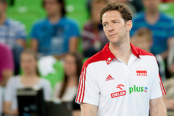 Stephane Antiga, head coach of Poland during volleyball match between National teams of Slovenia and Poland in 4th Qualification game of CEV European Championship 2015 on May 23, 2014 in Arena Stozice, Ljubljana, Slovenia. Photo by Urban Urbanc / Sportida