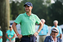 August 5, 2018 - Akron, Ohio, United States - Justin Thomas on the 18th green after winning the WGC-Bridgestone Invitational at Firestone Country Club. (Credit Image: © Debby Wong via ZUMA Wire)