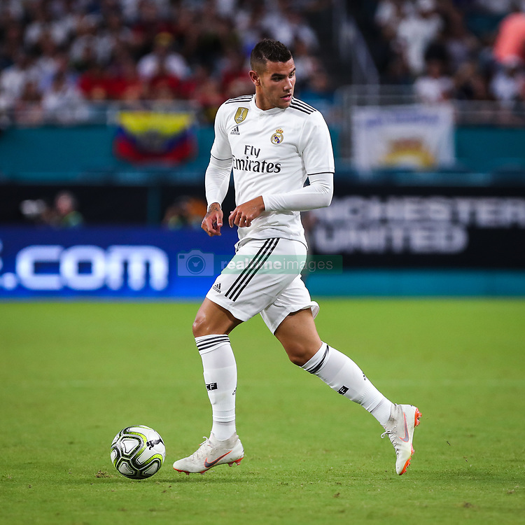 July 31, 2018 - Miami Gardens, Florida, USA - Real Madrid C.F. defender Theo Hernandez (15) in action during an International Champions Cup match between Real Madrid C.F. and Manchester United F.C. at the Hard Rock Stadium in Miami Gardens, Florida. Manchester United F.C. won the game 2-1. (Credit Image: © Mario Houben via ZUMA Wire)