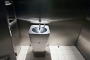 rust free metal washing basin in public toilette