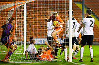 Blackpool's Owen Watkinson pulls a goal back to make it 1-2<br /> <br /> Photographer Alex Dodd/CameraSport<br /> <br /> The FA Youth Cup Third Round - Blackpool U18 v Derby County U18 - Tuesday 4th December 2018 - Bloomfield Road - Blackpool<br />  <br /> World Copyright © 2018 CameraSport. All rights reserved. 43 Linden Ave. Countesthorpe. Leicester. England. LE8 5PG - Tel: +44 (0) 116 277 4147 - admin@camerasport.com - www.camerasport.com