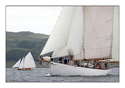 Day one of the Fife Regatta, Round Cumbraes Race.<br /> <br /> Kentra, E & D Klaus, GBR, Gaff Ketch, Wm Fife 3rd, 1923<br /> <br /> * The William Fife designed Yachts return to the birthplace of these historic yachts, the Scotland's pre-eminent yacht designer and builder for the 4th Fife Regatta on the Clyde 28th June–5th July 2013<br /> <br /> More information is available on the website: www.fiferegatta.com