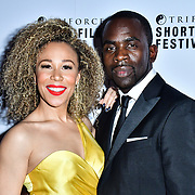 Ria Hebdon, Jimmy Akingbola attend TriForce Short Festival, on 30 November 2019, at BFI Southbank, London, UK.