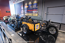 Knucklehead with a utility delivery box attached on display at the Harley-Davidson Museum during the Milwaukee Rally. Milwaukee, WI, USA. Saturday, September 3, 2016. Photography ©2016 Michael Lichter.