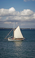 Sailing around the coast of the Isle of Wight