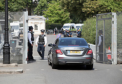 © Licensed to London News Pictures. 12/07/2018. London, UK. Police man a checkpoint at a closed off section of Regent's Park surrounding the US Ambassador's residence where President Trump will stay later.  Photo credit: Peter Macdiarmid/LNP