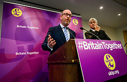 © Licensed to London News Pictures. 08/05/2017. London, UK. UKIP party leader PAUL NUTTALL (L) and UKIP Migration Spokesperson JOHN BICKLEY (R) speaking at a party policy announcement on migration in Westminster, London, ahead of a general election on June 8. Photo credit: Ben Cawthra/LNP