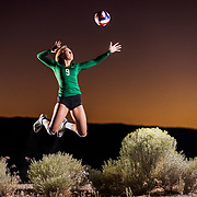 Damonte Ranch High School volleyball player McKinley Thiede poses for a portrait in Reno, Nev.