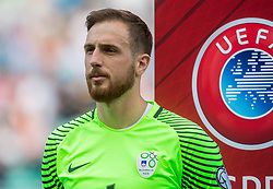 Jan Oblak of Slovenia during football match between National teams of Slovenia and Malta in Round #6 of FIFA World Cup Russia 2018 qualifications in Group F, on June 10, 2017 in SRC Stozice, Ljubljana, Slovenia. Photo by Vid Ponikvar / Sportida