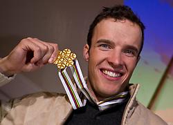 09.02.2011, Tirol Berg, Garmisch Partenkirchen, GER, FIS Alpin Ski WM 2011, GAP, Herren Super G, Sieger im Tirol Berg, im Bild Weltmeister Christof Innerhofer (ITA) // Gold Medal and World Champion Christof Innerhofer (ITA) during Men Super G, Fis Alpine Ski World Championships in Garmisch Partenkirchen, Germany on 9/2/2011. EXPA Pictures © 2011, PhotoCredit: EXPA/ J. Groder