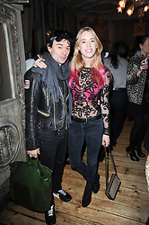 MARY CHARTERIS and ROBBIE FURZE at a party to celebrate the 1st anniversary of Alice Temperley's label held at Paradise, Kensal Green, London W10 on 25th November 2010.