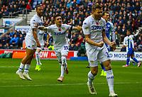 Leeds United's Pablo Hernandez celebrates scoring his side's equalising goal<br /> <br /> Photographer Alex Dodd/CameraSport<br /> <br /> The EFL Sky Bet Championship - Wigan Athletic v Leeds United - Sunday 4th November 2018 - DW Stadium - Wigan<br /> <br /> World Copyright © 2018 CameraSport. All rights reserved. 43 Linden Ave. Countesthorpe. Leicester. England. LE8 5PG - Tel: +44 (0) 116 277 4147 - admin@camerasport.com - www.camerasport.com