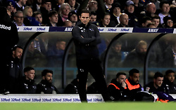 Derby County manager Frank Lampard watches the action from the touchline during the Sky Bet Championship match at Elland Road, Leeds.