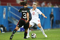17.07.2010,  Augsburg, GER, FIFA U20 Womens Worldcup, England vs Mexico,  im Bild Garciamendez Alina (Mexico Nr.3) und Isobel Christiansen (England Nr.17) , EXPA Pictures © 2010, PhotoCredit: EXPA/ nph/ . Straubmeier+++++ ATTENTION - OUT OF GER +++++