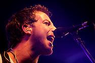 18th April 2009. Indio, California. British singer James Morrison on stage, at the Coachella Music Festival..PHOTO © JOHN CHAPPLE / REBEL IMAGES.tel +1 310 570 9100    john@chapple.biz
