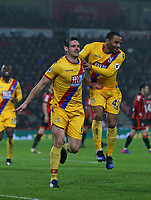 Football - 2016 / 2017 Premier League - AFC Bournemouth vs. Crystal Palace<br /> <br /> Scott Dann of Crystal Palace celebrates his goal with Jason Puncheon of Crystal Palace at Dean Court (The Vitality Stadium) Bournemouth<br /> <br /> COLORSPORT/SHAUN BOGGUST