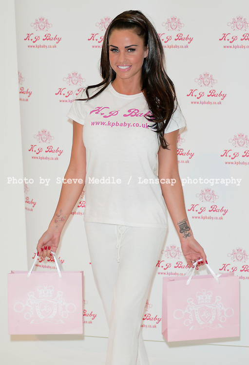 Katie Price launches her new babywear range, KP BABY, London, Britain - 20th May 2010..Kate Price aka Jordan today launched her new range of baby's clothes KP BABY designed by Katie herself, There are 18 pieces in the new collection.