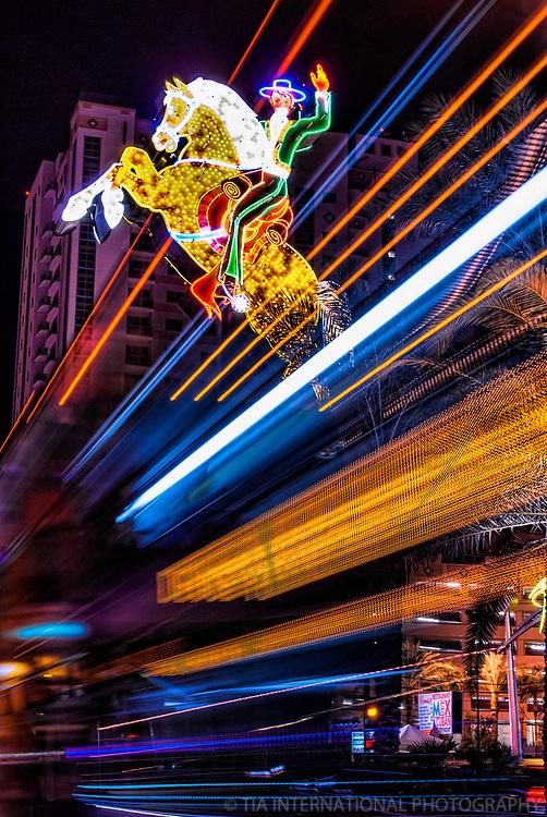 Neon Cowboy Sign, Downtown Las Vegas
