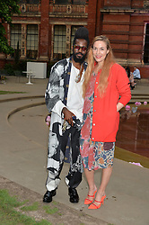 MARY-ALICE MALONE and  ROY LUWOLT at the V&A Summer Party in association with Harrod's held at The V&A Museum, London on 22nd June 2016.