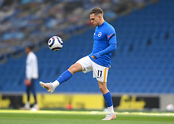 Brighton and Hove Albion's Leandro Trossard warming up prior to kick-off during the Premier League match at the American Express Community Stadium, Brighton. Picture date: Saturday May 15, 2021.