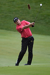 June 24, 2018 - Cromwell, CT, USA - J.B. Holmes hits his approach shot on the 18th hole during the final round of the Travelers Championship at TPC River Highlands in Cromwell, Conn., on Sunday, June 24, 2018. (Credit Image: © Brad Horrigan/TNS via ZUMA Wire)