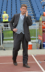 April 28, 2018 - Rome, Italy - President of Chievo Luca Campedelli during the Italian Serie A football match between A.S. Roma and Chievo at the Olympic Stadium in Rome, on april 28, 2018. (Credit Image: © Silvia Lore/NurPhoto via ZUMA Press)