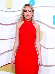 Tanya Burr attending the 73rd British Academy Film Awards held at the Royal Albert Hall, London.