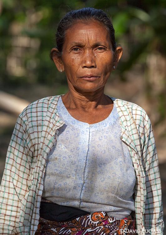 Miss Win Sain Oo posing in a Chin village near Lemro River.