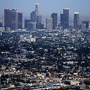 LOS ANGELES, CA, FEBRUARY 17, 2007: The Los Angeles skyline as seen from Griffith Park. (Photograph by Todd Bigelow/Aurora)
