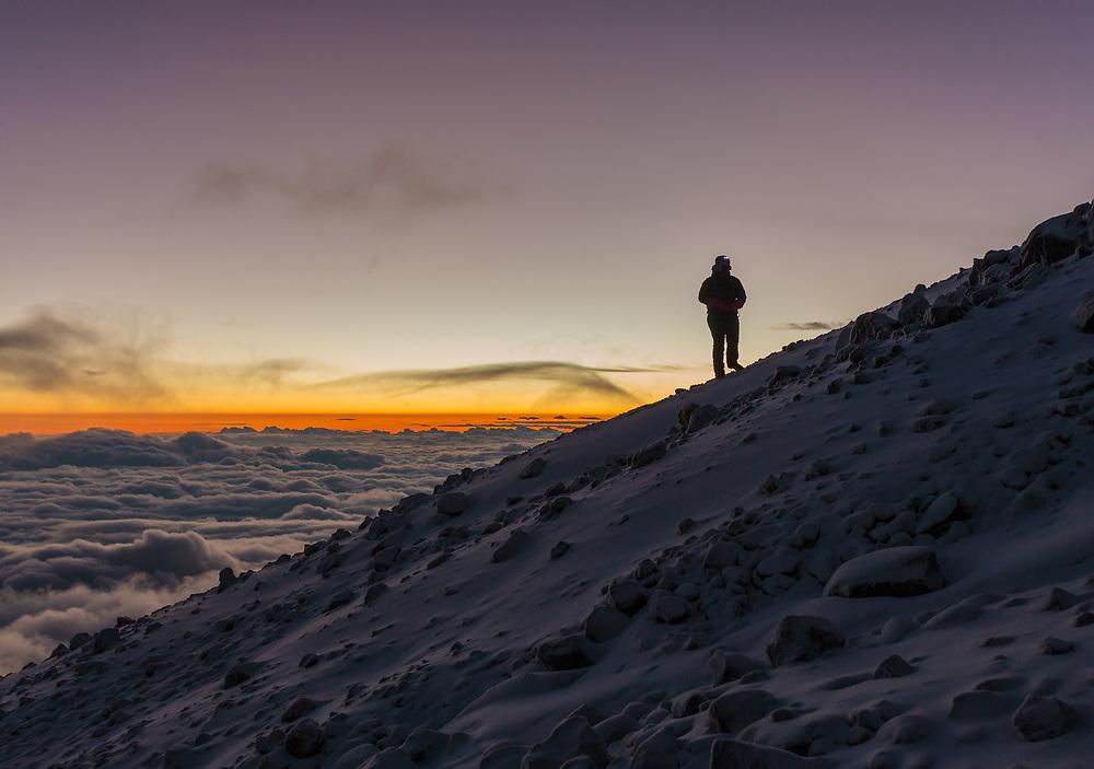 Mountaineering on Orizaba Mexico
