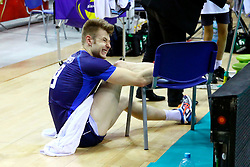 07.09.2014, Krakow Arena, Krakau, POL, FIVB WM, Italien vs USA, Gruppe D, im Bild Iwan Zajcew kontuzjowany, kontuzja, uraz / Ivan Zaytsev injury , injured // during the FIVB Volleyball Men's World Championships Pool D Match beween Italy and USA at the Krakow Arena in Krakau, Poland on 2014/09/07. EXPA Pictures © 2014, PhotoCredit: EXPA/ Newspix/ Krzysztof Porebski<br /> <br /> *****ATTENTION - for AUT, SLO, CRO, SRB, BIH, MAZ, TUR, SUI, SWE only*****