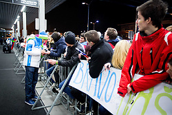 David Rodman, ice hockey player at reception of Slovenia team arrived from Winter Olympic Games Sochi 2014 on February 19, 2014 at Airport Joze Pucnik, Brnik, Slovenia. Photo by Vid Ponikvar / Sportida
