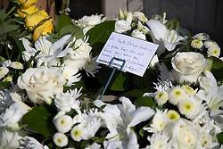 © Licensed to London News Pictures. 22/03/2021. London, UK. A wreath from the Mayor of London has been left at the the PC Keith Palmer memorial outside the Houses of Parliament. Today marks four years since the Westminster Bridge terror attack and a commemorative plaque is expected to be installed on Westminster Bridge when Coronavirus restrictions are lifted . Photo credit: George Cracknell Wright/LNP