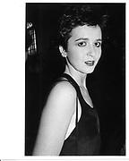 Charlotte Fraser. Cafe Royal. 1985 approx. © Copyright Photograph by Dafydd Jones 66 Stockwell Park Rd. London SW9 0DA Tel 020 7733 0108 www.dafjones.com