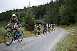 Moniek Tenniglo in the break across the first gravel sector at the Crescent Vargarda - a 152 km road race, starting and finishing in Vargarda on August 13, 2017, in Vastra Gotaland, Sweden. (Photo by Sean Robinson/Velofocus.com)