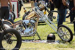 Daril Borba's Mulberry Street Showclass Magazine's People's Choice Winning 1949 Harley-Davidson Panhead chopper at the Born Free Motorcycle Show-8 at Oak Canyon Ranch. Silverado, CA, USA. Saturday June 25, 2016.  Photography ©2016 Michael Lichter.