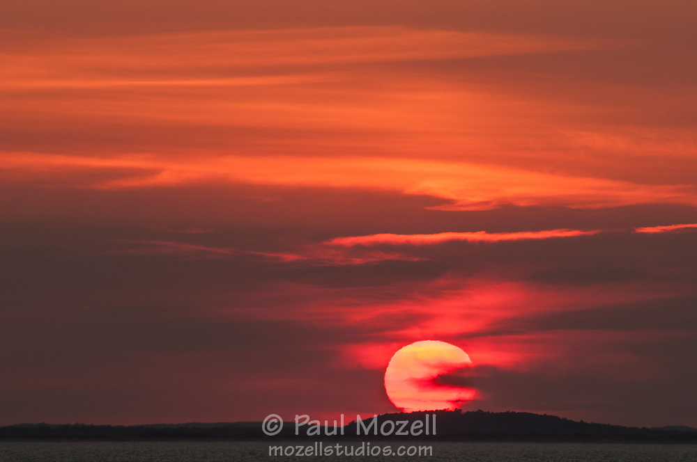 Sunset over Ipswich Bay from Gloucester, MA