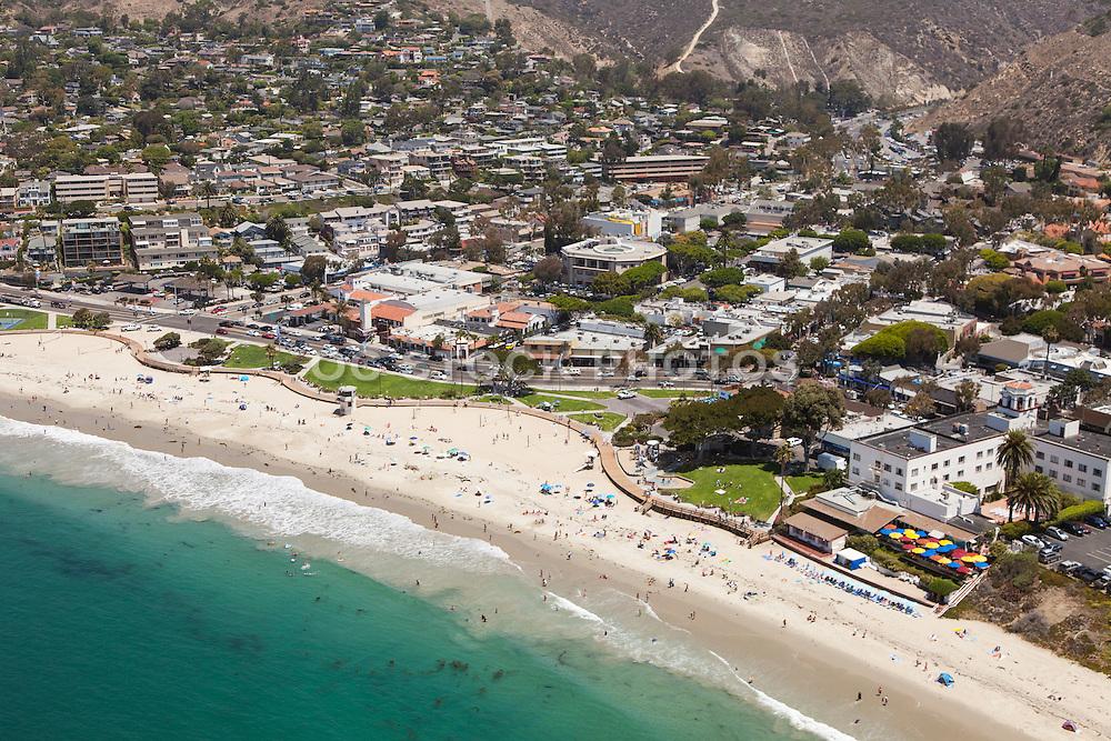 Aerial of Downtown Laguna Beach