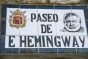 Ronda, Andalusia, Spain Street named in honour of Ernest Hemingway