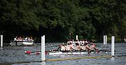 Henley. Berks, United Kingdom. <br /> <br /> Ohio State University competing in the Elite Women's Eight at the 2017 Henley' Women's Regatta. Rowing on, Henley Reach. River Thames.  <br /> <br /> Sunday  18/06/2017<br /> <br /> [Mandatory Credit Peter SPURRIER/Intersport Images]
