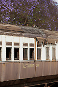 A train restaurant carriage at the railway museum in Nairobi, Kenya. The railway is rich with history, and integral in the developement of the country after being colonised by the British in the 19th century