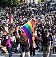 Black Lives Matter Protestors in Trafalgar Square